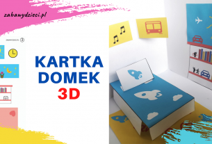 kartka domek 3D z papieru