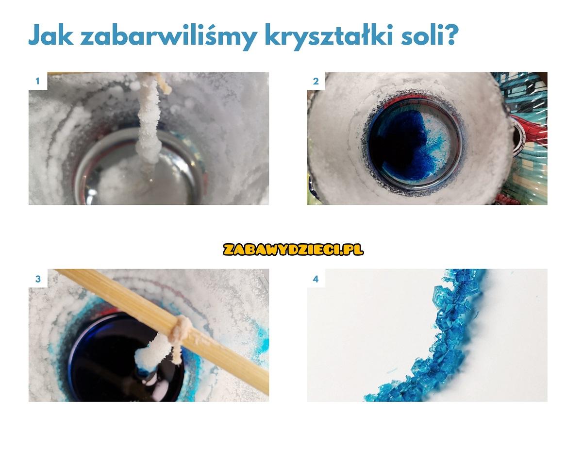 jak zabarwić kryształki soli
