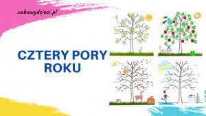 kolorowanka wyklejanka cztery pory roku dla dzieci