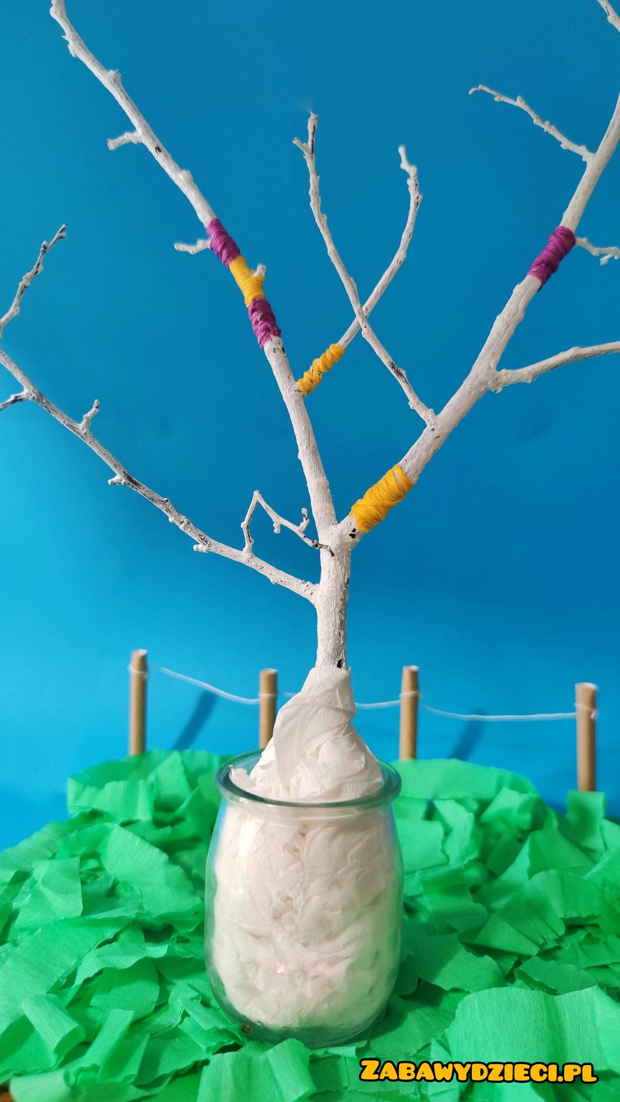 pomysły na drzewko wielkanocne z gałązek